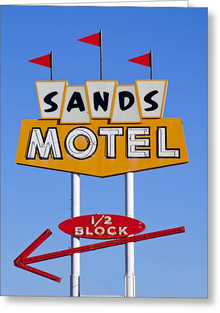 Sands Motel Greeting Card by Matthew Bamberg