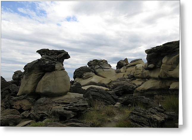 Greeting Card featuring the photograph Sandstone Beach by Brian Sereda