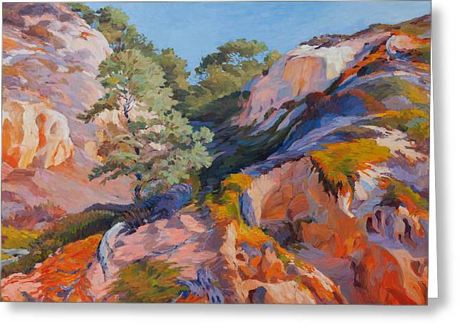 Sandstone Canyon At Torrey Pines Greeting Card