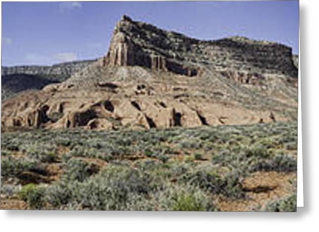 Greeting Card featuring the photograph Sandstone Cliffs Escalante National Monument by Gregory Scott