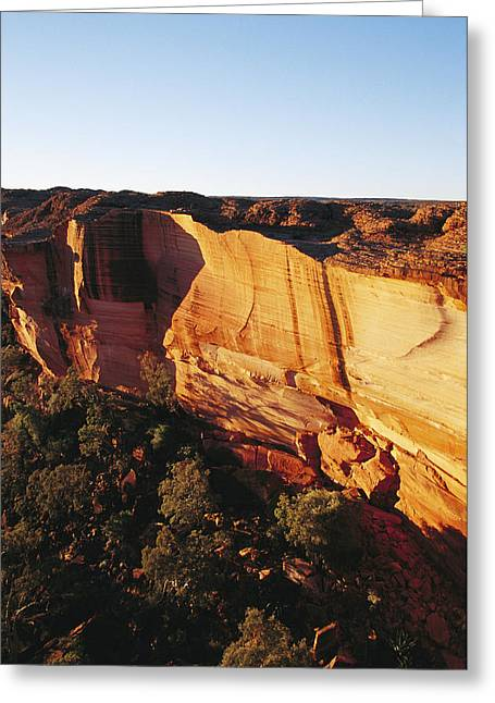 Sandstone Gorge At Kings Canyon Greeting Card by Jason Edwards