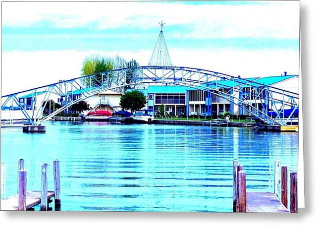 Sandy Beach Bridge Greeting Card