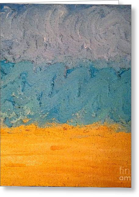 Sandy Beach Greeting Card by J Von Ryan