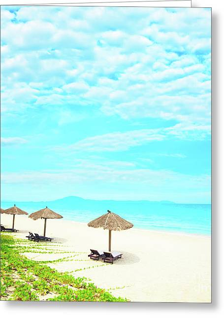 Sandy Beach Greeting Card by MotHaiBaPhoto Prints