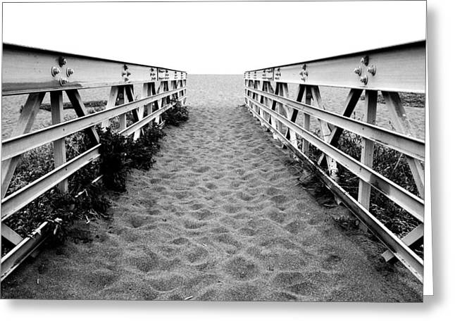 Sandy Bridge - Black And White Greeting Card