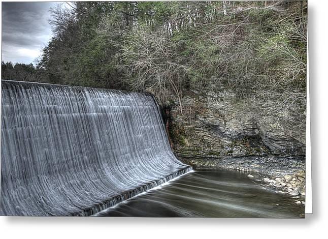 Sandy Hook Mill Dam Greeting Card by David Clark