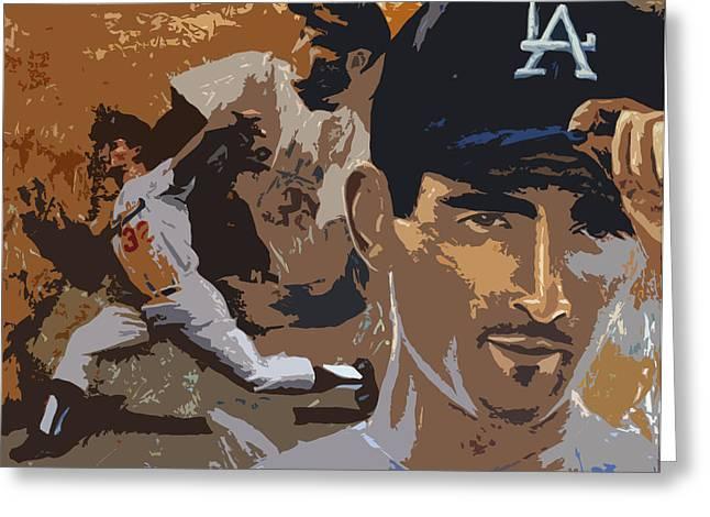 Sandy Kofax Poster Greeting Card by Adam Barone
