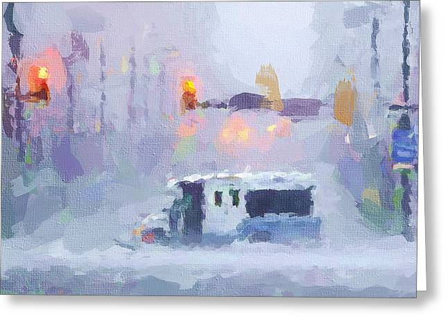 Sandy Storm In Nyc Greeting Card