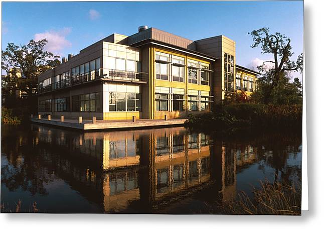 Sanger Centre Used For The Human Genome Project Greeting Card