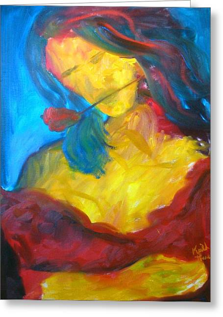 Sangria Dreams Greeting Card by Keith Thue