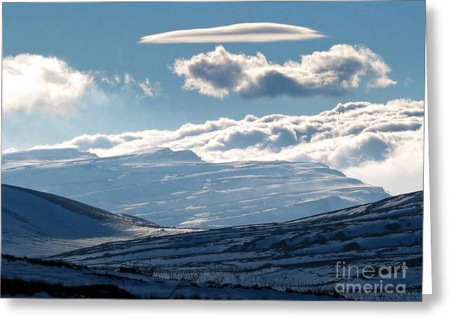 Sannir Mountains Greeting Card by Issam Hajjar