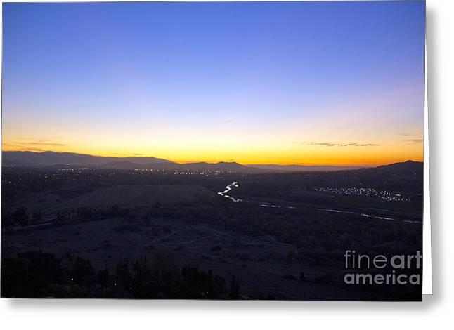 Santa Ana River Greeting Card by Molly Heng