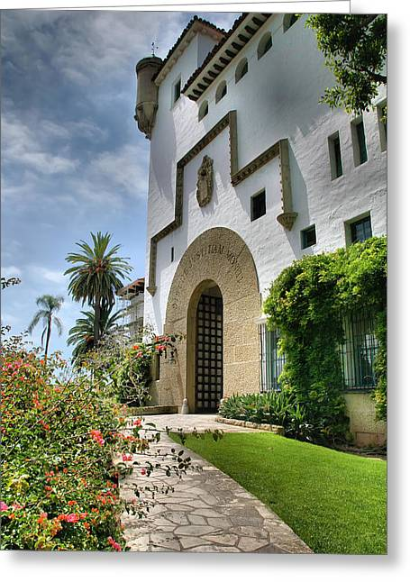 Santa Barbara County Courthouse II Greeting Card by Steven Ainsworth