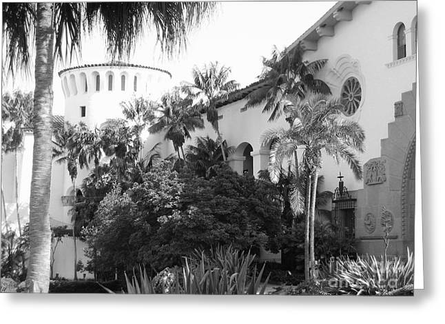 Greeting Card featuring the photograph Santa Barbara Courthouse by Ann Johndro-Collins