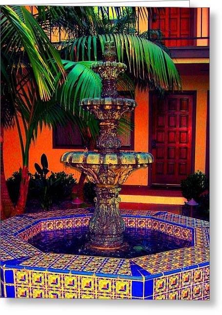 Santa Barbara Fountain Greeting Card
