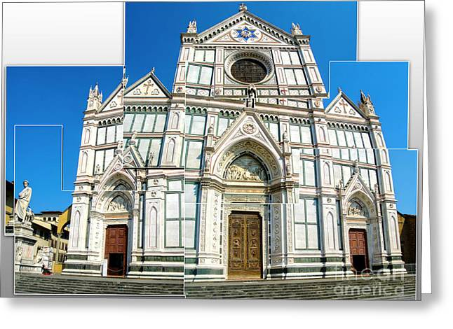 Santa Croce Greeting Card by Gregory Dyer