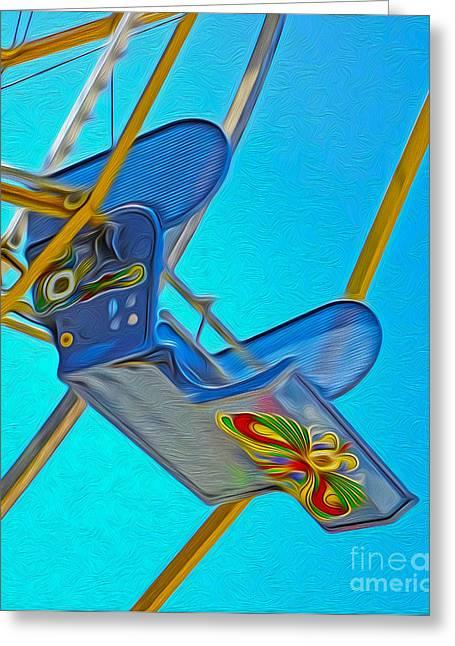 Santa Cruz Boardwalk - Ferris Wheel - 03 Greeting Card by Gregory Dyer