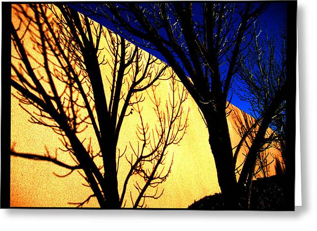 Greeting Card featuring the photograph Santa Fe Afternoon by Susanne Still