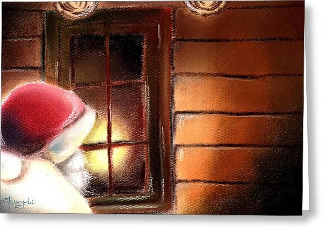 Santa Greeting Card by Hiroko Sakai