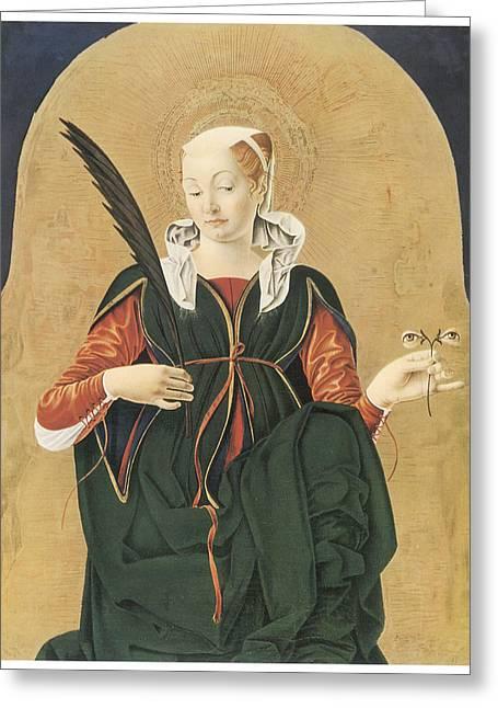 Santa Lucia Greeting Card by Francesco Del Cossa