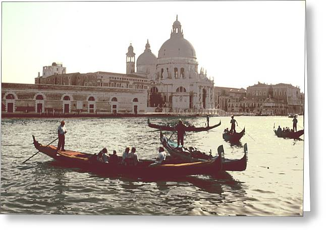 Greeting Card featuring the photograph Santa Maria Della Salute Grand Canal Venice by Tom Wurl