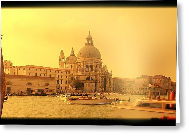 Santa Maria Della Salute Greeting Card by Shelley Smith