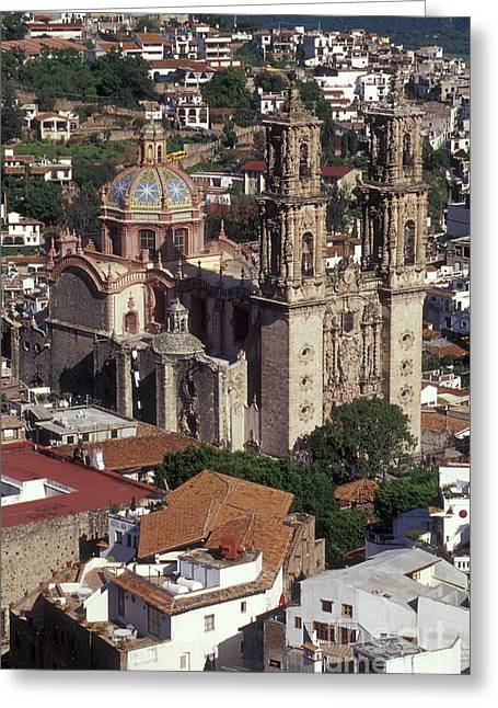 Santa Prisca Church Taxco Mexico Greeting Card by John  Mitchell