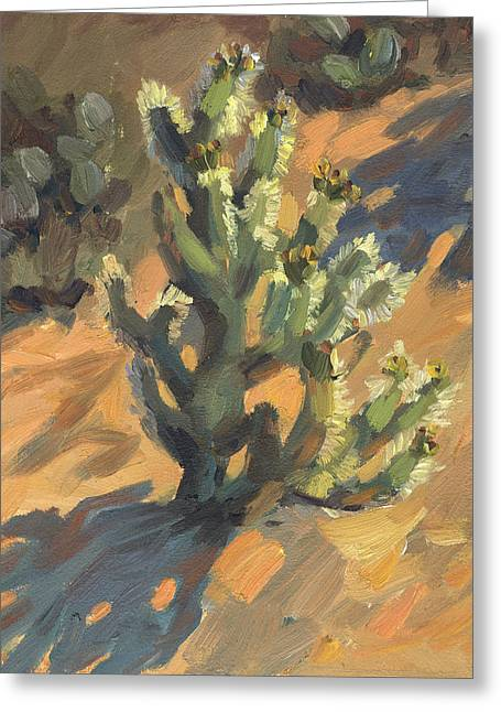 Desert Lake Greeting Cards - Santa Rosa Cholla Greeting Card by Diane McClary