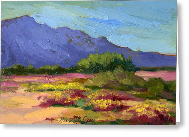 Santa Rosa Mountains In Spring Greeting Card by Diane McClary