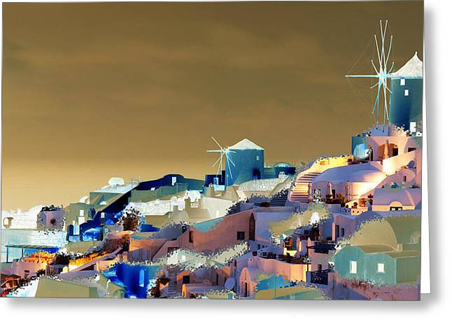 Santorini Greeting Card by Ilias Athanasopoulos