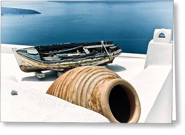 Santorini Still Life Greeting Card by Scott Massey