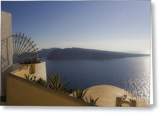 Santorini View Greeting Card