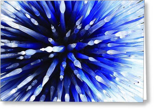 Sapphire Explosion Greeting Card by Jerry Bunger