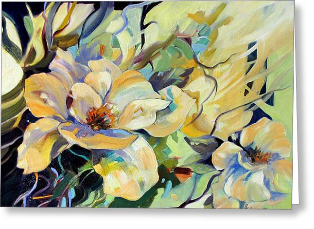 Greeting Card featuring the painting Sapphire Light by Rae Andrews
