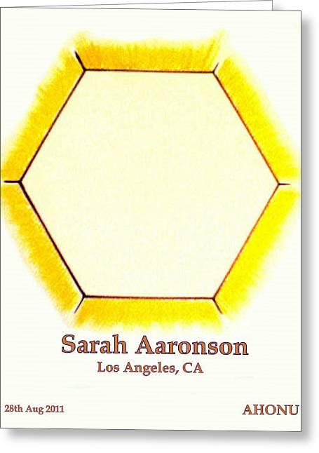 Sarah Aaronson Greeting Card by Ahonu