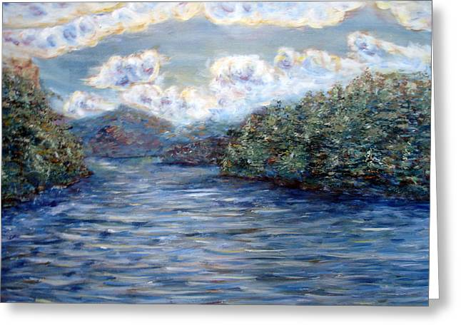 Saranac Lake On A Summer Evening Greeting Card by Denny Morreale