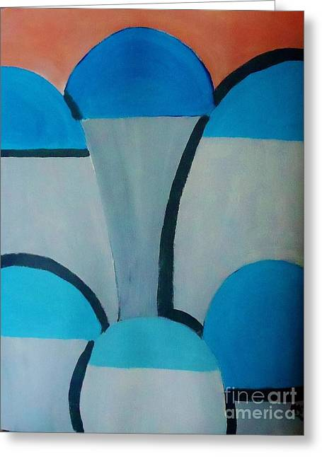 Sardinia Greece An Abstract Greeting Card by Marie Bulger