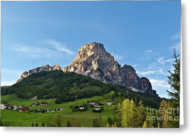 Greeting Card featuring the photograph Sassongher Tirol Northern Italy by Charles Lupica