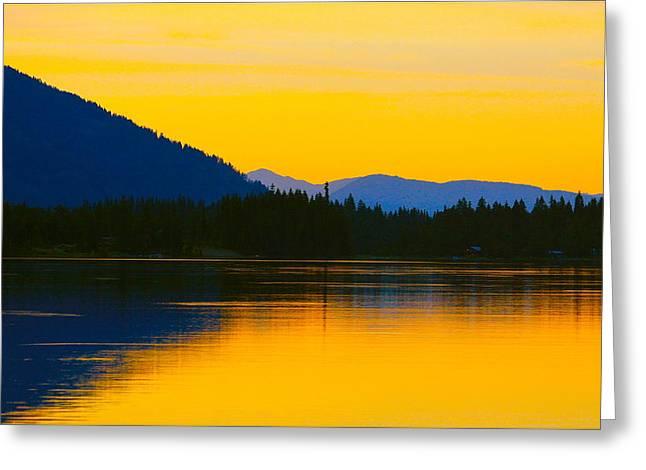 Saturated Sunset Greeting Card by Karon Melillo DeVega