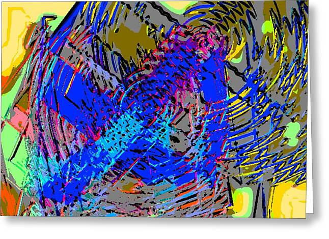 Saturday Abstract Composition 2 Greeting Card by Rod Saavedra-Ferrere