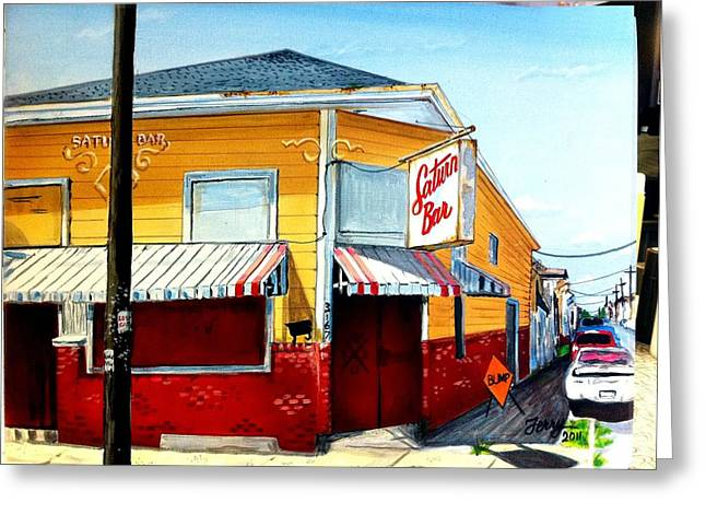 Saturn Bar Greeting Card by Terry J Marks Sr