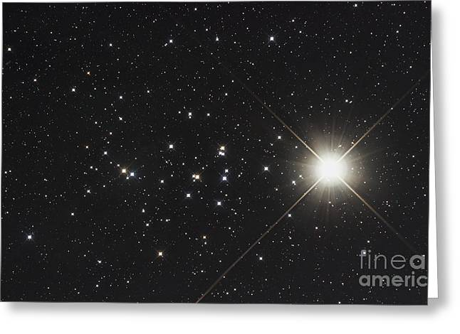Saturn In The Beehive Star Cluster Greeting Card