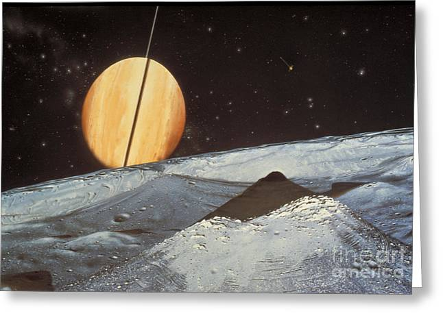 Saturns Satellite Mimas Greeting Card