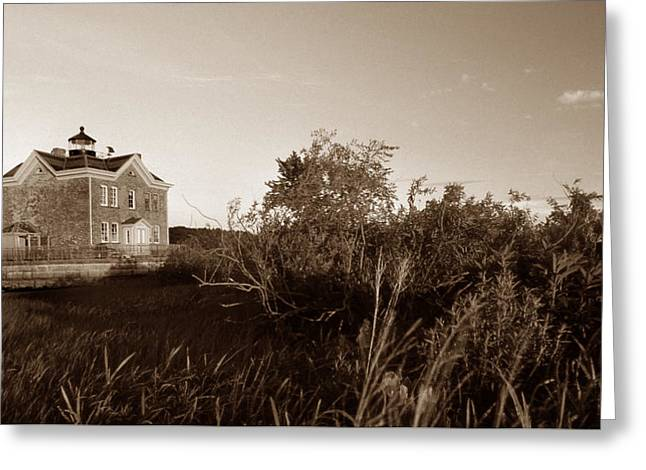 Saugerties Lighthouse Greeting Card by Skip Willits