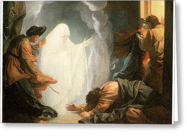 Saul And The Witch Of Endor Greeting Card by Benjamin West