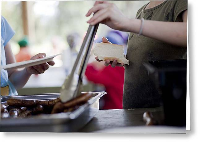 Greeting Card featuring the photograph Sausage Sizzle by Carole Hinding