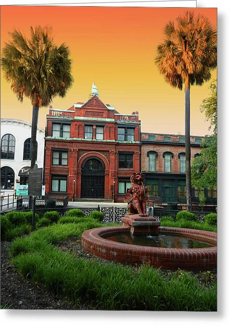 Greeting Card featuring the photograph Savannah Cotton Exchange by Paul Mashburn