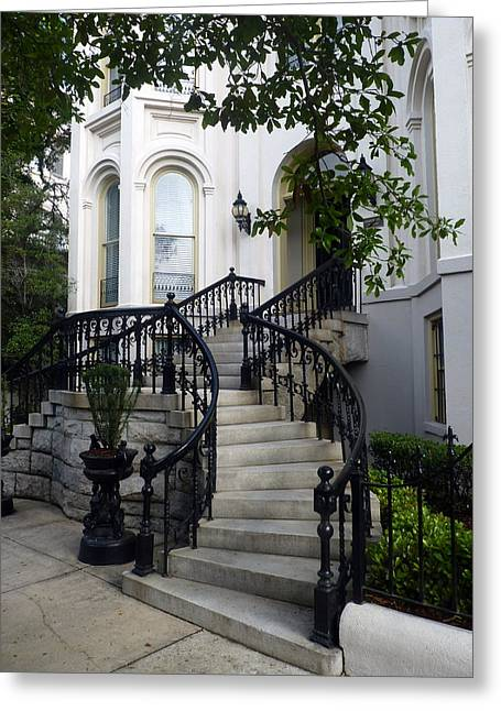 Savannah Stairway Greeting Card