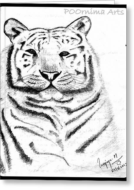 Save Tigers Greeting Card by Poornima M