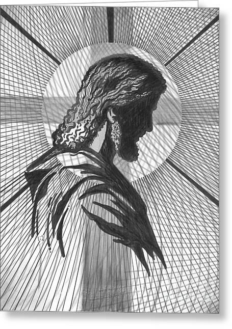 Saviour Greeting Card by Peter Olsen